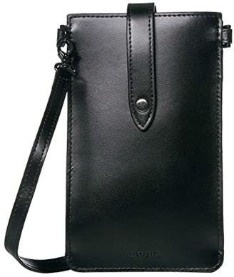 Lodis Audrey Under Lock Key Phone Crossbody (Black/Black) Handbags