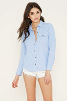 Forever 21 Buttoned Pocket Shirt