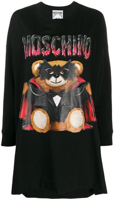 Moschino Dracula Bear print T-shirt dress