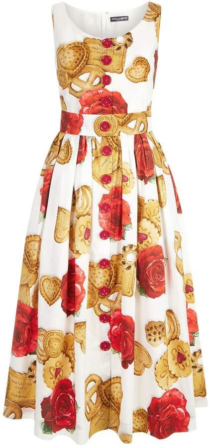 Dolce & Gabbana Biscuit Poplin Sundress