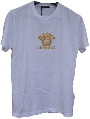 Versace White Cotton T-shirts
