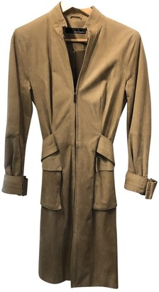 Amanda Wakeley Camel Suede Coat for Women