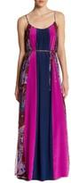 Ella Moss Silk Colorblock Maxi Dress