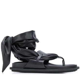 MSGM Wrap-Around Flat Sandals