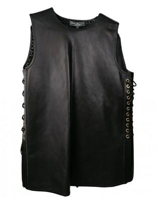 Salvatore Ferragamo Black Leather Top for Women