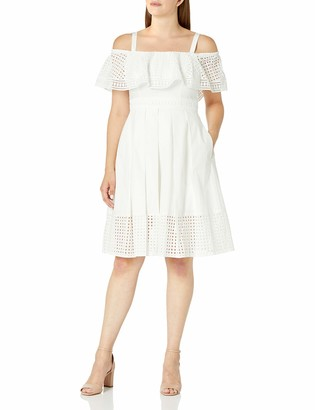 Eliza J Women's Ruffled Bodice Fit & Flare