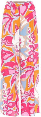Emilio Pucci Beach Printed wide-leg pants