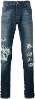 Just Cavalli distressed straight leg jeans