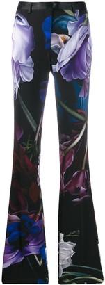 Roberto Cavalli Marchito print flared tailored trousers