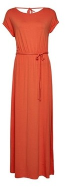 Dorothy Perkins Womens Orange Roll Sleeve Maxi Dress, Orange