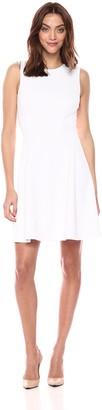 Theory Women's Sleeveless A LINE Modern Tea Knit Dress
