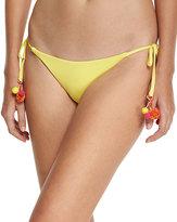 Becca Swim Pom Pom Tie-Side Swim Bottom, Yellow