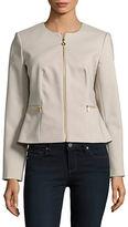 Calvin Klein Knit Zip-Front Blazer