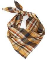 Donni Charm Women's Bandit Plaid Silk Neckerchief