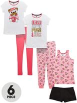 Very 6pc Sleepover Pug Pj Set