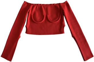 Orseund Iris Red Cotton Tops
