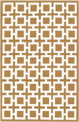 Jonathan Adler Camel Nixon Reversible Peruvian Flat Weave Rug