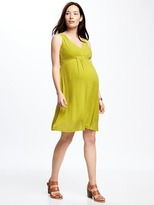 Old Navy Maternity Lace-Yoke Midi Dress