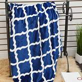 "Elegant Comfort Luxury Printed Flannel Blanket/Throw 50"" X 60inch Ultra Plush Beautiful Design, Dark Blue"