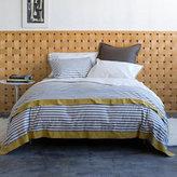 Draper Stripe Bedding in Ash Duvet and Shams