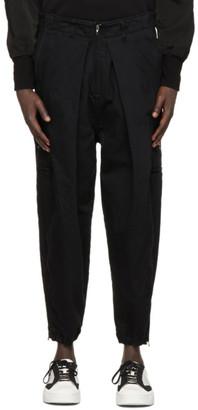 Julius Black Adjustable Zip Cargo Pants