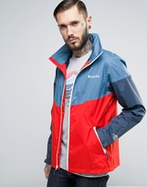 Columbia Inner Limits Hooded Jacket Waterproof Tricolor in Blue/Red