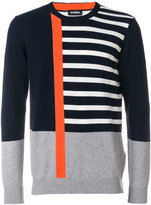 Diesel abstract striped jumper