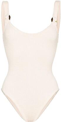 Hunza G Domino crinkle-effect swimsuit