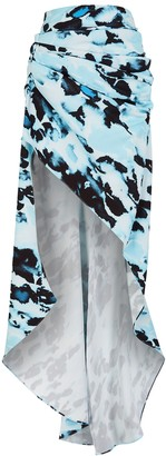 16Arlington Aster printed draped maxi skirt