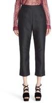 Isa Arfen Women's 'Classic' Cotton & Silk Crop Pants