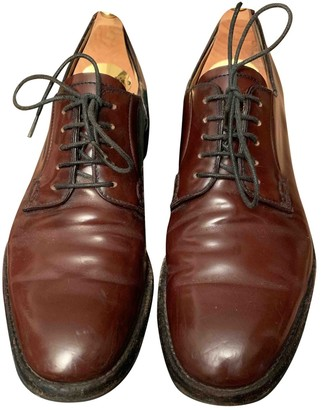 Church's Burgundy Patent leather Lace ups