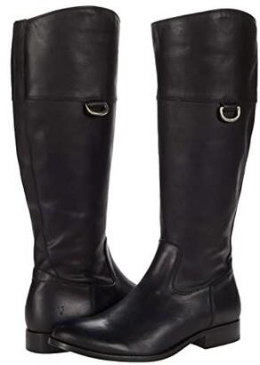 Frye Melissa D Ring Tall (Black Vintage Veg Tan) Women's Boots