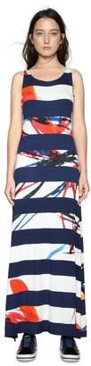 Desigual Sleeveless Striped Maxi Dress
