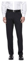 Haggar H26 - Men's Straight Fit Performance Pant Black Pinstripe