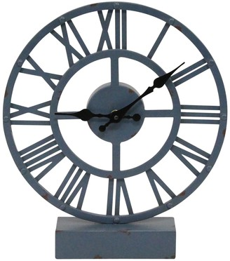 Stratton Home Blue Fisher Table Clock