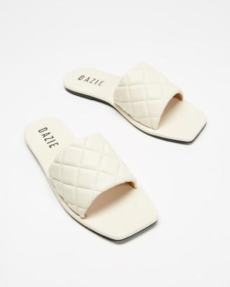 Dazie - Women's Neutrals Flat Sandals - Tipi Slides - Size 5 at The Iconic