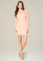 Bebe Dotted Lace Dress