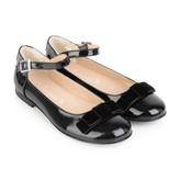 Armani Junior Armani JuniorGirls Black Patent Ankle Strap Shoes