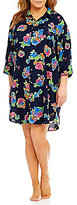 Lauren Ralph Lauren Plus His Shirt Floral Lawn Sleepshirt
