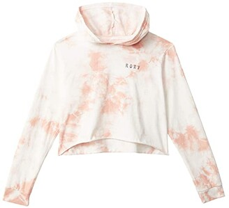 Roxy Kids Beach Babe Long Sleeve Hooded T-Shirt (Little Kids/Big Kids) (Mellow Rose) Girl's Clothing