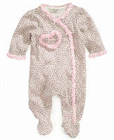 Little Me Leopard Print Footed Coverall, Baby Girls