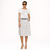 J.Crew Collection frayed dot skirt
