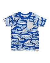Joules Olly Shark Pocket Tee, Size 3-6