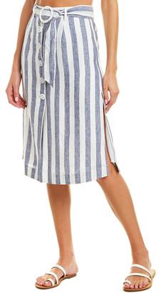 SUBOO Newport Linen Midi Skirt