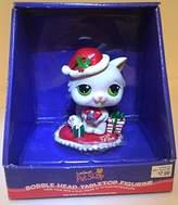 Littlest Pet Shop RARE Littlest PetShop Bobble Head Tabletop Christmas Cat figurine