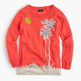 J.Crew Tippi sweater in embroidered palm trees