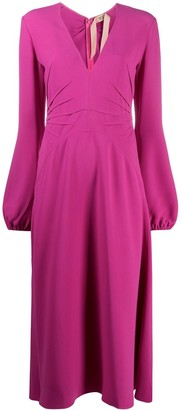 No.21 Long-Sleeve Midi Dress