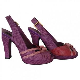 Louis Vuitton Purple Lizard Heels
