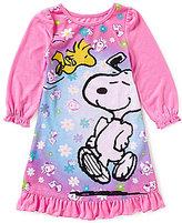 Komar Kids Little Girls 2T-4T Snoopy Nightgown