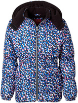 Pink Platinum Blue & Pink Abstract Puffer Jacket - Infant, Toddler & Girls